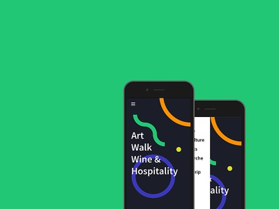 Art Walk & Wine ux ui graphic wine art walk js app marche