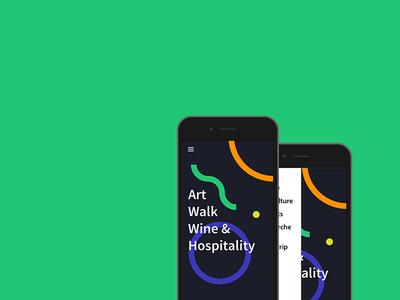 Art Walk & Wine ux ui graphic wine art walk js app marche