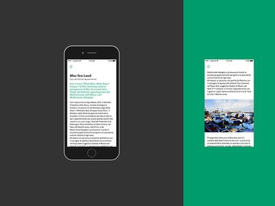 Blue Sea Land expo sicily color design graphic ui app