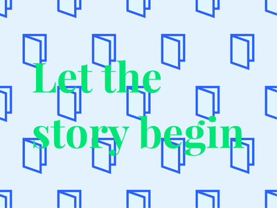Let the story begin door book pattern typography graphic design serif igenius artificial intelligence medium story begin