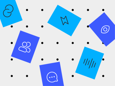 iGenius interviews illustration pattern voice connector fast team chat data icons figma vector interview