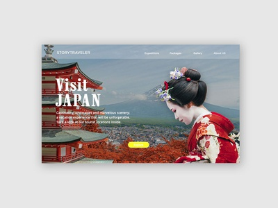 Week 1 UI Lessons- Visit Japan