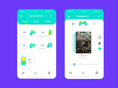 Game Library ui patterns uidesign vector clean ui adobe photoshop illustrator webdesign ui ux design