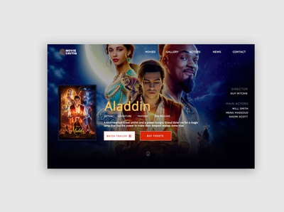 Movie Trailer App uidesign clean ui ui patterns adobe photoshop webdesign ui ux design