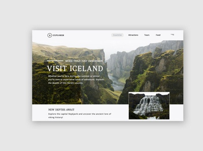 Travel Landing page ui patterns uidesign clean ui webdesign ui ux design