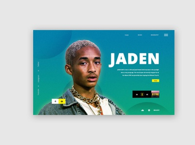 Jaden Bio Page ui patterns uidesign webdesign ux ui
