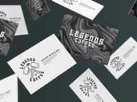 Legends Coffee Business Cards