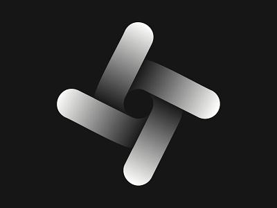 Abstract Twister vector branding design symbol logotype twisted geometric abstract shadow minimalism geliskhanov mark logo twister