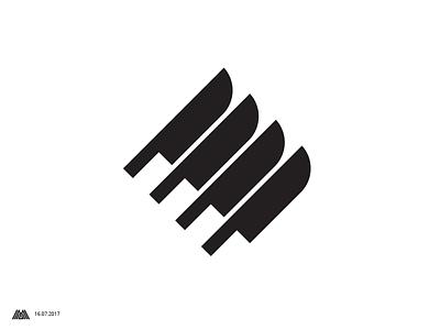 4 knives logotype knive knives logo