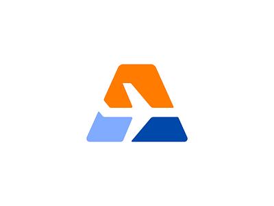 aerosell sky plane aero logotype logo