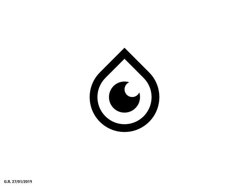 Eye Drops symbol mark smart logotype logo geliskhanov eyes eyeball drop drops eye
