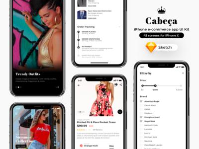 Cabeça - iPhone e-commerce app UI Kit