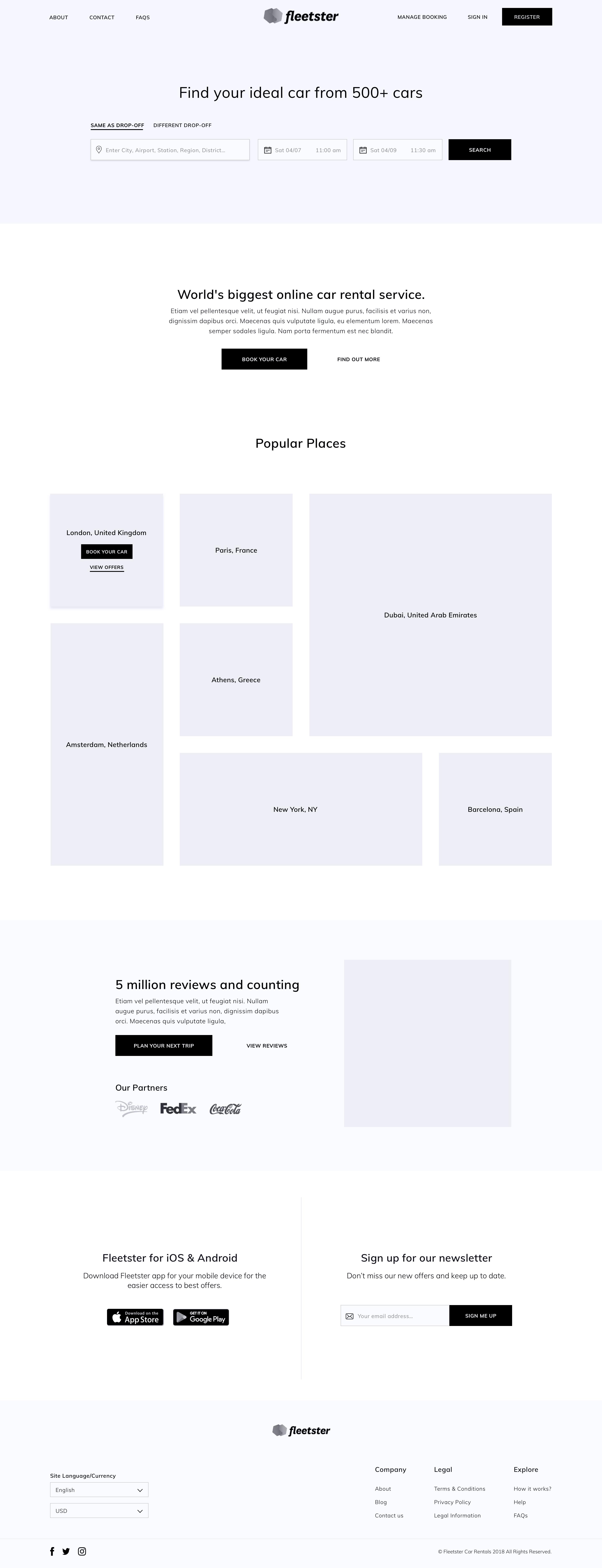 Homepage   wireframe 2x