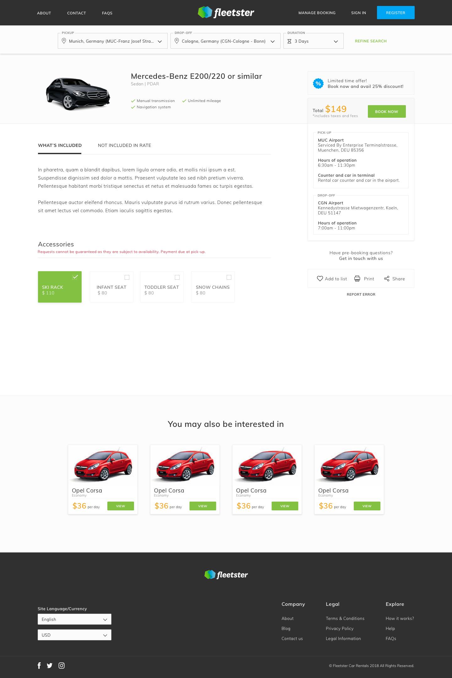 Vehicle selection   mockup 1x