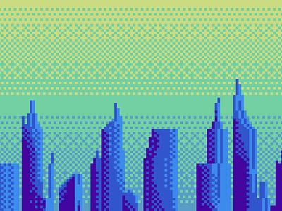 City Skyline illustration pixel art