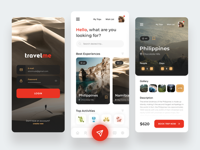 Travel Service - Mobile App webdesign ux ui trips trip traveling travel app travel agency travel mobile ui mobile app design mobile app digital design app design app