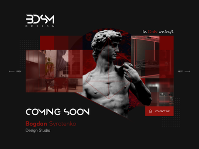 BDSM - Design Studio Coming Soon coming soon page comingsoon webdesign ux ui logo branding illustration graphic art graphic  design dribble digital design