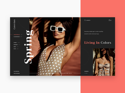 Design Concept For Calvin Klein Homepage fashion art fashion calvin klein onlineshop onlinestore ecommerce dribble company digital typography web webdesign design grid ux ui