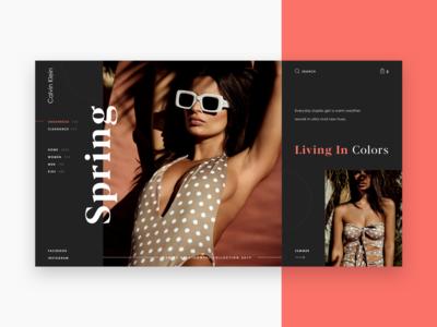 Design Concept For Calvin Klein Homepage fashion art fashion calvin klein onlineshop onlinestore ecommerce dribble company digital typography web webdesign design grid ux ui