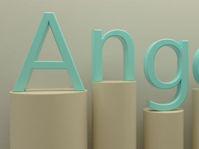 ANGEL_SSS typography icon design illustration vector graphic design 3d