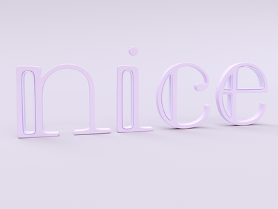 nice 3d letterin logo ui typography vector design branding illustration graphic design 3d
