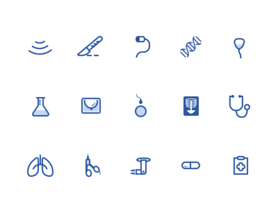 medical icons medical procedures icons