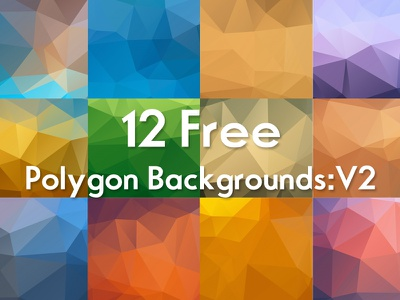 Free Polygon Backgrounds :V2 freebie free artistic graphics color hi-res unique creative backgrounds colorful triangles geometric