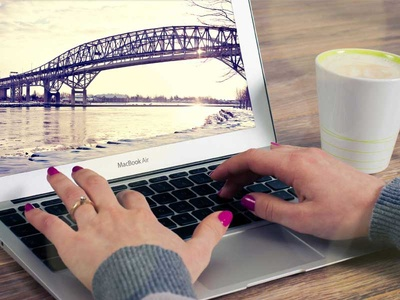 FREE MacBook Air Office Mockup