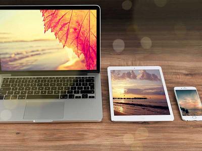 FREE Mac family Office Mockup free freebie mockup psd apple personal commercial