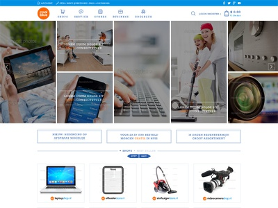 FREE Homepage Redesign of the CoolBlue redesign homepage web design user interface ecomerce clean coolblue freebie free