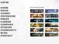 Crytek homepage3.1