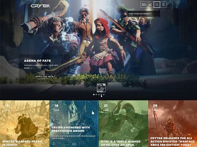 FREE Redesign of the Crytek home page crytek clean game user interface web design homepage redesign freebie free