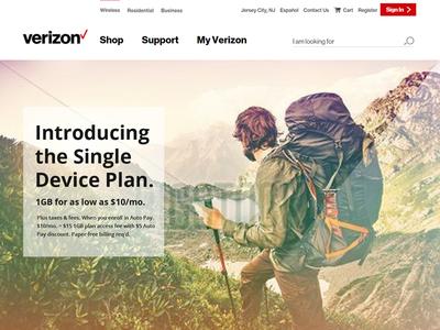 Verizon Landing Page