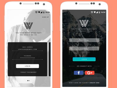 Sign In Screen #1 sign up login mobile ux ui freelancer android