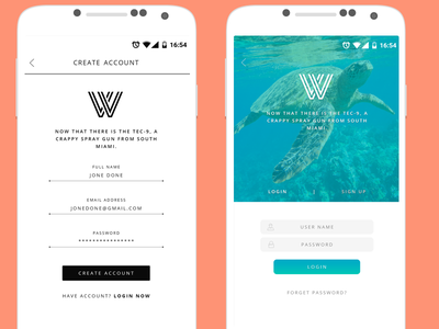 Sign In Screen #2 sign up login mobile ux ui freelancer android