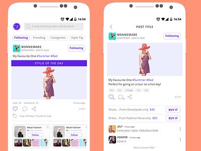 Fashion Mobile App ux ui fashion psd ios freelancer free android