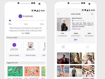 Fashion Mobile App ux ui psd ios freelancer free fashion android