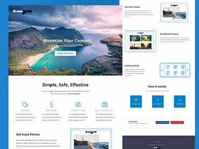 Cloudgunk landing page storage sharing cloud