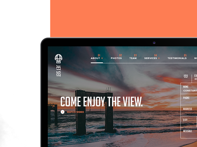 Jet Set Concept Website ui kit travel concept website style guide graphic design responsive layout web design