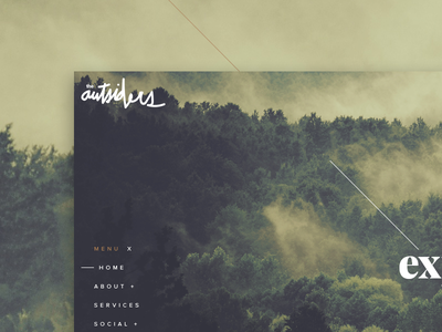 the Outsiders ui kit travel concept website style guide graphic design responsive layout web design