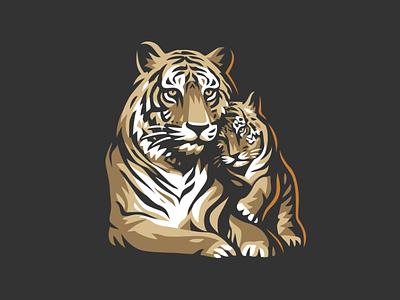 Tigers cub tiger