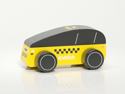 Taxi wooden toy taxi car