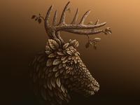 deer deer foliage