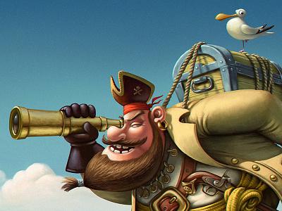Pirate chest gull pirate
