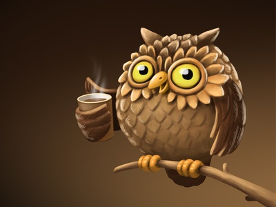 Owl And Coffee