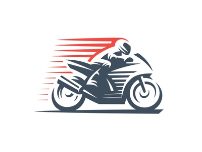 Moto speed motorcycle moto bike line logo racing sport style