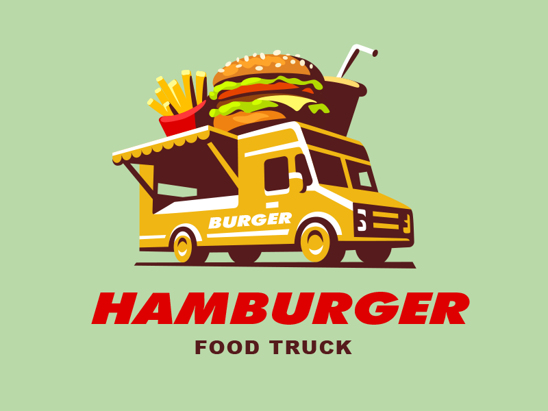 Food truck burger by sergey kovalenko dribbble for Food truck design app