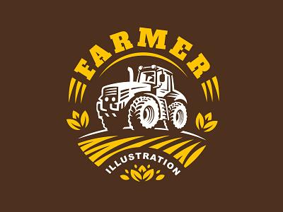 Tractor tractor logo icon illustration