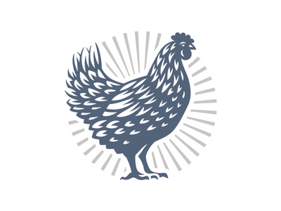 Chicken hen logo chicken
