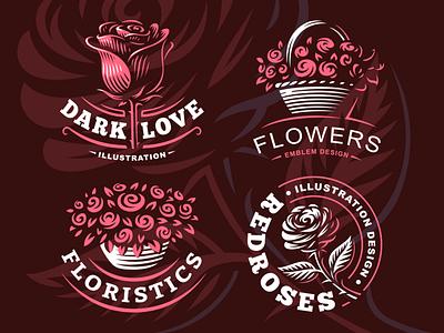 Flowers gift plant bouquet garden wedding love rese logo flower valentine